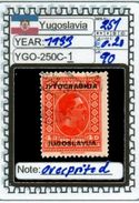 EUROPE:#YUGOSLAVIA#CLASSIC# MH*# (YGO-250C-1) (90) - 1919-1929 Regno Dei Serbi, Croati E Sloveni