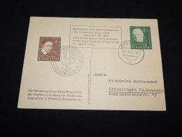 Germany BRD 1952 Ichenhausen Balloonpost Card__(L-5074) - [7] République Fédérale