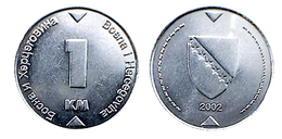 00337 MONETA COIN 1 Konvertible Marka Босна и Херцеговина Bosna I Hercegovina 1 KM - Bosnia And Herzegovina