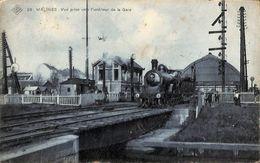Malines - Vue Prise Vers L'intérieur De La Gare (top Animation, Loco, SBP, 1908) - Malines