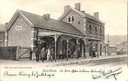 Trois-Ponts - La Gare (top Animation, Edit. Lecocq-Peeters, 1904) - Trois-Ponts