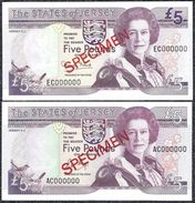Jersey, 5 Pounds Type 1989-1993 SPECIMEN UNCIRCULATED - Banknotes
