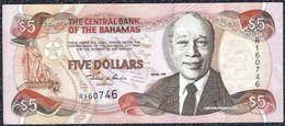 Bahamas 5 Dollars 1997 VF+ - XF Note - Banknotes