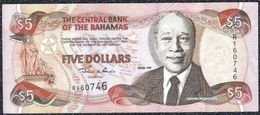 Bahamas 5 Dollars 1997 VF+ - XF Note - Unclassified