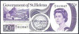 St. Helena, 50 Pence Type 1979  UNC - Bankbiljetten