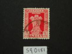 1963 Sg 0181  13np Scarlet  WMK 374 ( 1 ) - Official Stamps
