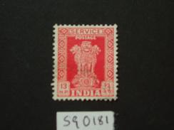 1963 Sg 0181  13np Scarlet  WMK 374 ( 2 ) - Official Stamps