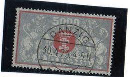 B - 1922 Germania - Danzica - Stemma - Danzig
