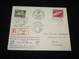 Sweden 1936 Swedish Post 2 Stamp FDC__(L-5261) - Sweden