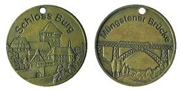 02458 GETTONE TOKEN FICHA JETON ADVERTISING LOCAL MUNICIPAL SCHLOSS BURG MUNGSTENER BRUCK - Allemagne