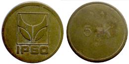 03733 GETTONE TOKEN FICHA JETON BELGIUM WASHING TOKEN LAUNDRY IPSO 5 K - Unclassified