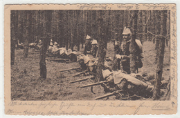 CPA Allemande-Militaires Soldats Allemand Dans Tranchée -Gäger Im Gefecht -RINTELN- 1916 (guerre14-18)2scans TBE - Oorlog 1914-18