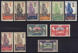 Gabon N° 88 - 97, 99 * - Gabon (1886-1936)