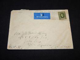 UK 1938 Air Mail Cover To Trinidad Via Siberia__(L-4754) - 1902-1951 (Kings)