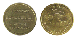 00522 GETTONE TOKEN FICHA JETON ADVERTISING MINTING TECHNOLOGY SCHULER PRESSES - Allemagne