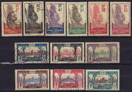 Gabon N° 49 - 54, 56 - 61 Oblitérations Libreville, Loanga, Coco-Beach - Gabon (1886-1936)