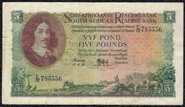 South Africa 5 Pounds 1959 (VF) Note - Banknotes