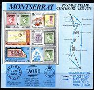 BF170 - MONTSERRAT 1976 , Foglietto Yvert N. 9   ***  Stamp Centenary - Montserrat