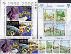 EUROPA 1956-2006 Hercegovina 166/9,Bl.7,Bosna 339/2+Block 13A ** 50€ Flaggen Weltkugel Zahl 50 Blocs Sheets Bf CEPT - Bosnie-Herzegovine
