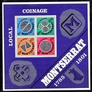 BF110 - MONTSERRAT 1975 , Foglietto Yvert N. 8   ***  Local Coinage - Montserrat