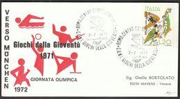 Italy 1971 / Giochi Della Gioventu - Youth Games / Basketball, Volleyball, Skiing, Swimming, Fencing, Gymnastics, - Basket-ball