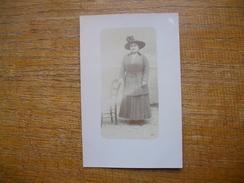 """Ancienne Carte  Photo , Silhouette De Femme """""""" Berthe """""""" - Silhouettes"""