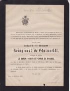 IEPER YPRES GHELUVELT  Emélie KEINGIAERT De GHELUVELDT Veuve Du Baron Van Der STICHELE De MAUBUS 73 Ans 1876 - Décès