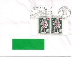YT 1541  FLAMME COUTANCES 2/1/68 - Mechanical Postmarks (Advertisement)