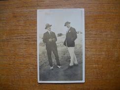 """Ancienne Carte  Photo , Silhouettes D'hommes """" Super Pompe """" - Silhouettes"""