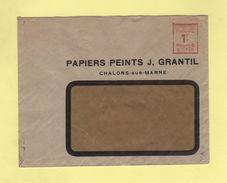 EMA - Machine B - Papiers Peints - Chalons Sur Marne - Marcophilie (Lettres)