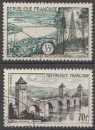 France 1957 N° 1118-1119 Région Bordelaise Et Le Pont Valentré (Cahors)  (B3) - Francia