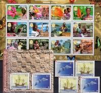 EUROPA Guinea 4202/13 KB,Croatia 734/5,ZD+Block 27 ** 143€ Ss Flower Blocs History Sheets Bird M/s Bf 50 Years CEPT - Emissions Communes