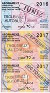 2017 , Moldova , Moldavie , Chisinau ,  Trolley  Bus  Tickets ,  Monthly Pass , 3 Ex. - Europe
