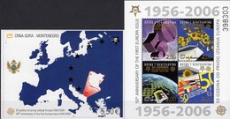 Blocks BOSNIA-Hercegovina Block 7+CRNA GORA Bl.3 ** 44€ EUROPA Blocs Art Ss Ships Sheets Maps Ms 50 Years CEPT 2006 - Bosnie-Herzegovine