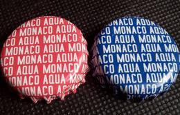 2 Monaco Aqua Kronkorken 2017 Soda Water Bottle Crown Caps Set TOP Tappi Chapas Capsules Eau Minerale - Unclassified