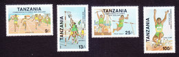 Tanzania, Scott #623-626, Mint Hinged, Commonwealth Games, Issued 1990 - Tanzania (1964-...)
