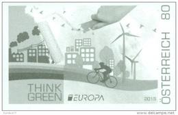 Austria 2016 - EUROPA 2016 - Think Green Black Proof Mnh - Muziek