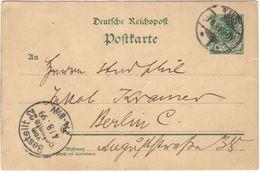 Deutsches Reich - 1899 - 5c + Special Cancel Bestellt Vom Postamte 22 - Carte Postale - Post Card - Intero Postale - Ent - Allemagne