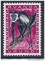 Ruanda-Urundi, Scott # 139 MNH Colobus Monkey, 1959 - Ruanda-Urundi