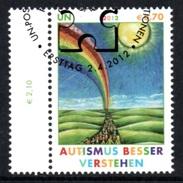 UNITED NATIONS (VIENNA) 2012 Autism Awareness: Single Stamp CANCELLED - Wien - Internationales Zentrum