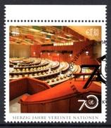 UNITED NATIONS (VIENNA) 2015 70th Anniversary Of The UN: Single Stamp CANCELLED - Wien - Internationales Zentrum