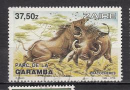 ##18, Zaire, 1983, Sc 1136, Phacochère, Warthog, Sanglier, Boar, Cochon, Pig, Parc De La Garamba - 1980-89: Oblitérés