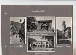 Lot 4 Photos Fotografia Aosta Italia Via Croix De Ville Arc De Cesar Auguste Edifice O N B Priorat De St Ours 11 X 6 Cm - Lieux
