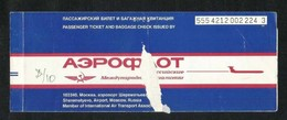 Russian Russia International Airlines Transport Ticket Used Passenger Ticket - Transportation Tickets