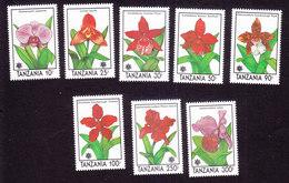 Tanzania, Scott #628-635, Mint Hinged, Orchids, Issued 1990 - Tanzanie (1964-...)