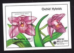 Tanzania, Scott #636, Mint Never Hinged, Orchids, Issued 1990 - Tanzanie (1964-...)