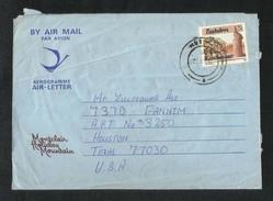 Zimbabwe 1987 Air Mail Postal Used Aerogramme Cover Zimbabwe To Pakistan Elephant Animal - Zimbabwe (1980-...)