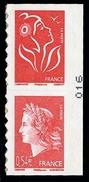 .Yvert A139 4(j Anniversaire De La Marianne De Cheffer. [**] Paire - Adhésifs (autocollants)