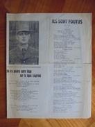 Ancien Feuillet De Paroles Chants De La Libération Guerre 39/45 - Documentos Históricos