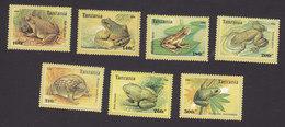 Tanzania, Scott #1453-1459, Mint Hinged, Frogs, Issued 1996 - Tanzania (1964-...)